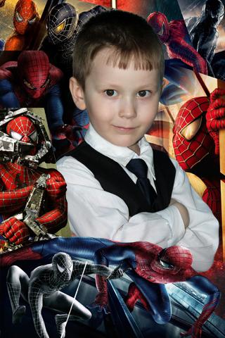 Детские рамки для фотошопа: Человек паук