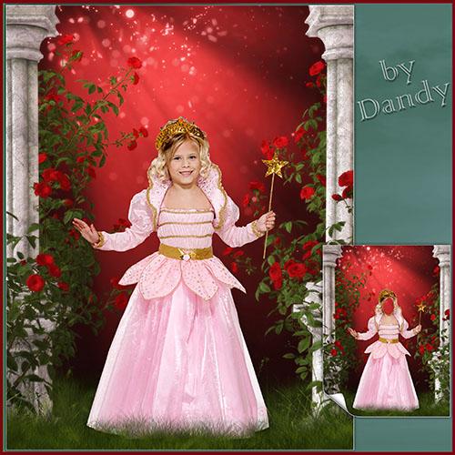 Детские шаблоны для фотошопа: Маленькая фея