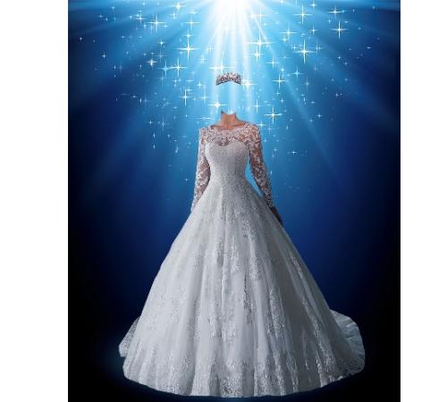 Женские шаблоны для фотошопа: Невеста