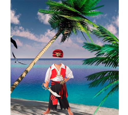 Детские шаблоны для фотошопа: Маленький пират