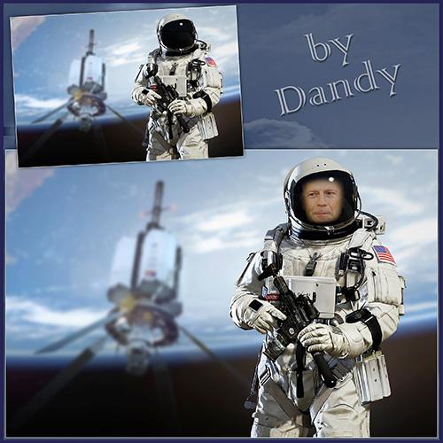 Мужские шаблоны для фотошопа: Космический спецназ