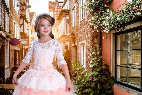 Детские шаблоны для фотошопа: Платье принцессы