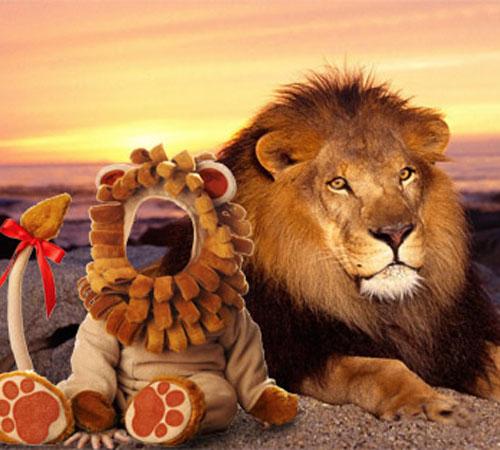 Детские шаблоны для фотошопа: Львенок со львом