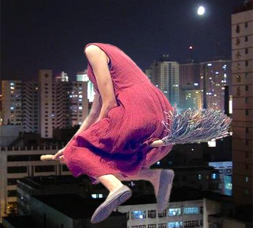 Приколы фотошопа для женщин: Летаю на метле
