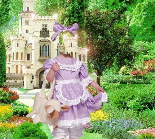 Детские шаблоны для фотошопа: Девочка из сказки