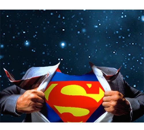 Мужские шаблоны для фотошопа: Супермэн