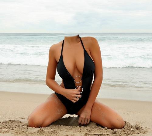 Женские шаблоны для фотошопа: На морском песочке
