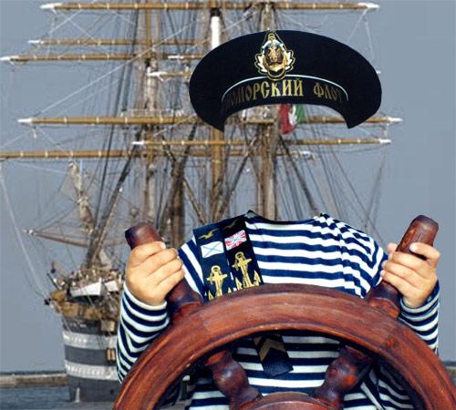 Детские шаблоны для фотошопа: Капитан корабля