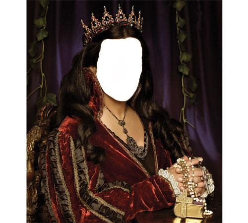 Женские шаблоны для фотошопа: Королева
