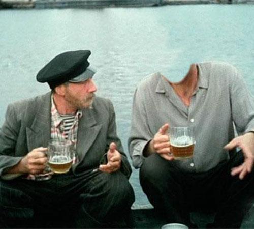 Шаблоны со знаменитостями: По пивку с С. Юрским