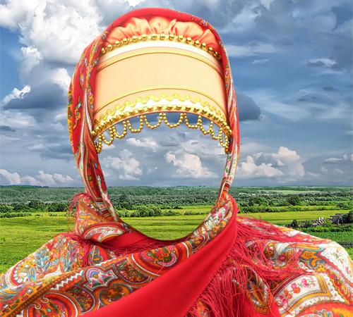Женские шаблоны для фотошопа: Русская краса