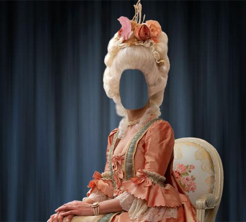 Женские шаблоны для фотошопа: Придворная дама