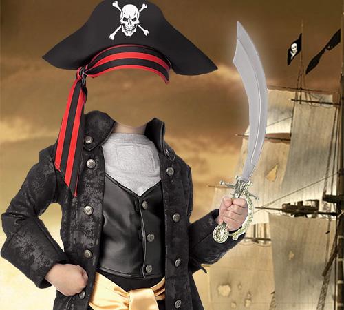 Детские шаблоны для фотошопа:  Пират