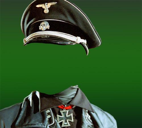 Мужские шаблоны для фотошопа: Офицер вермахта