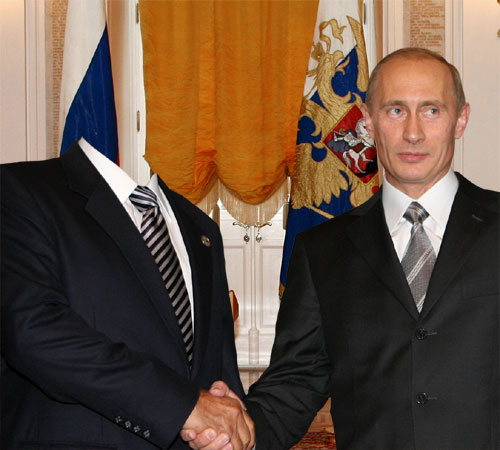 Шаблоны со знаменитостями: Приветствие Путина