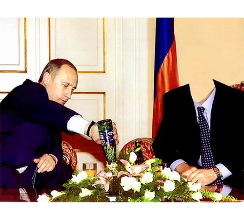 Шаблоны со знаменитостями: У Путина в гостях