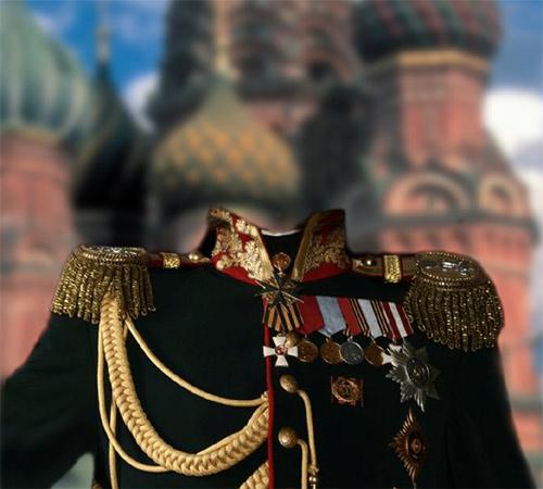 Мужские шаблоны для фотошопа: Царский генерал