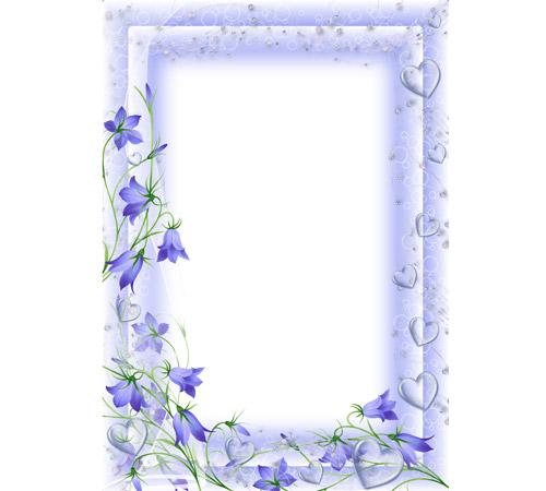 Рамки с цветами для фотошопа:  Колокольчики