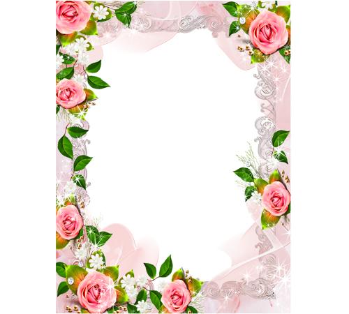 Рамки с цветами для фотошопа: Ах эти розы!