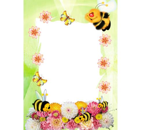 Женские рамки для фотошопа: Веселые пчелки