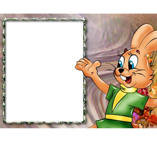 Рамки с героями мультфильмов: Заяц Ну погоди!