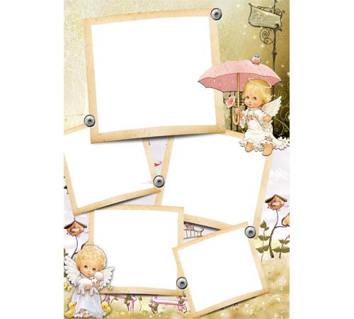 Детские рамки для фотошопа: Ангелочки