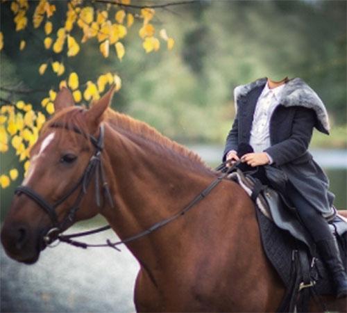 Детские шаблоны для фотошопа: Девочка на коне