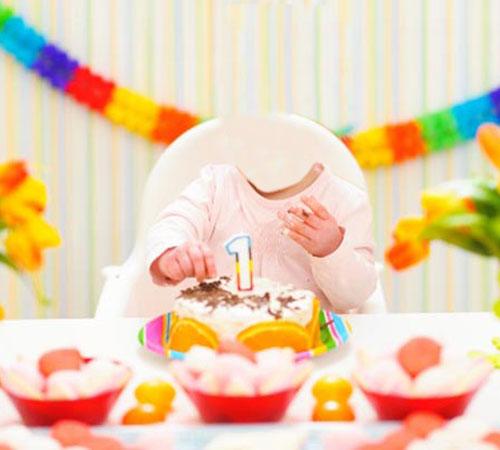 Детские шаблоны для фотошопа: Первый День Рождения!