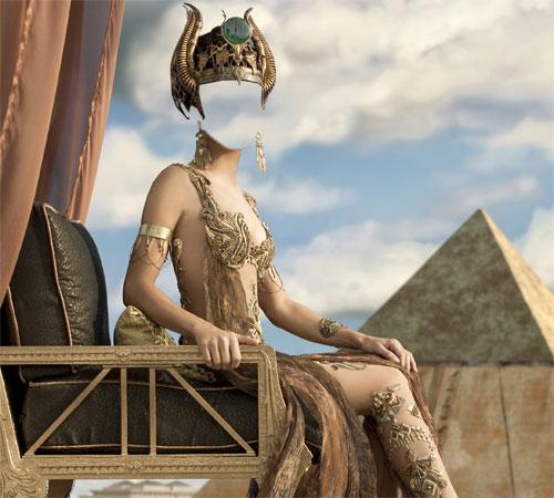 Женские шаблоны для фотошопа: Египетская богиня