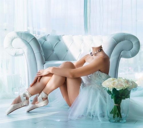 Женские шаблоны для фотошопа: Балерина