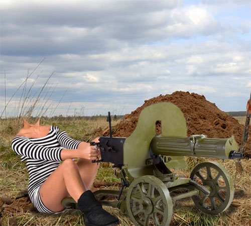 Приколы фотошопа для женщин: Анка пулеметчица