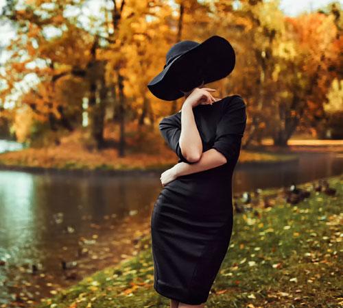 Женские шаблоны для фотошопа: Дама в шляпке