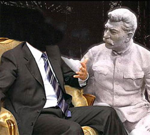 Приколы фотошопа для мужчин: Разговор со Сталиным