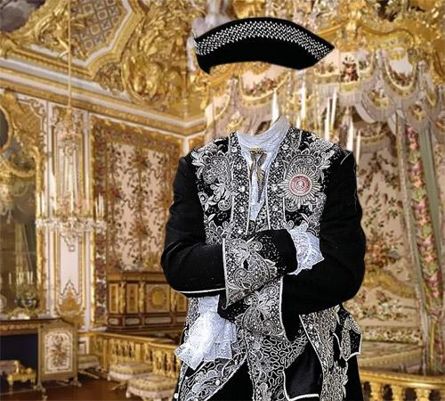 Мужские шаблоны для фотошопа: Вельможа из Парижа