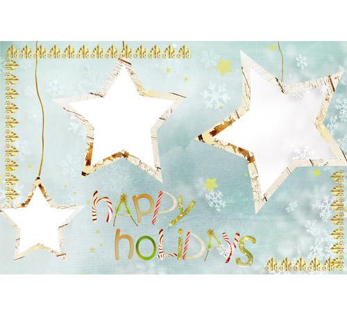 Праздничные рамки для фотошопа: Happy Holidays!