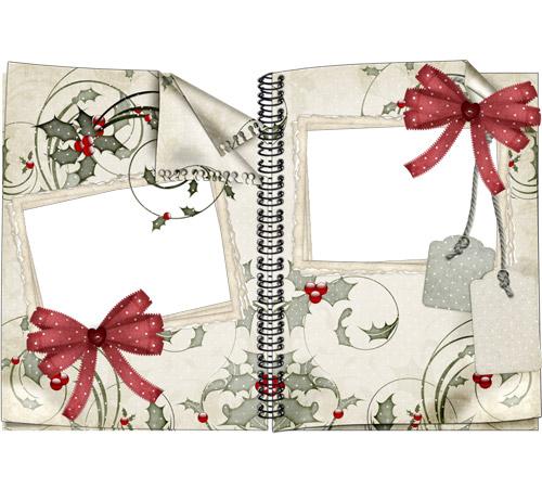 Женские рамки для фотошопа: Старая тетрадь