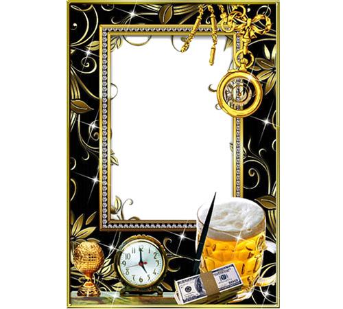 Мужские рамки для фотошопа: Время мужчин
