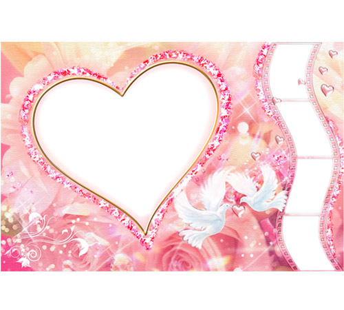 Рамки  - сердечки для фотошопа: Сердечко ты моё!