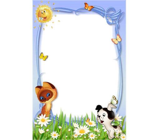 Детские рамки для фотошопа: Детские забавы