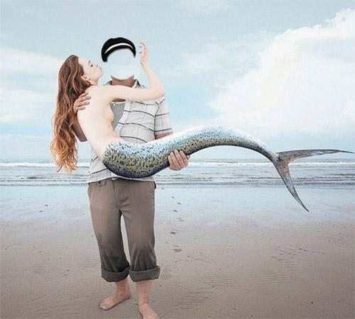 Приколы фотошопа для мужчин: Поймал русалку