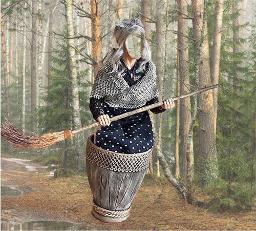 Приколы фотошопа для женщин: Баба Яга в ступе