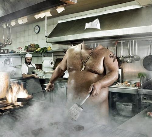 Приколы фотошопа для мужчин: Адский повар