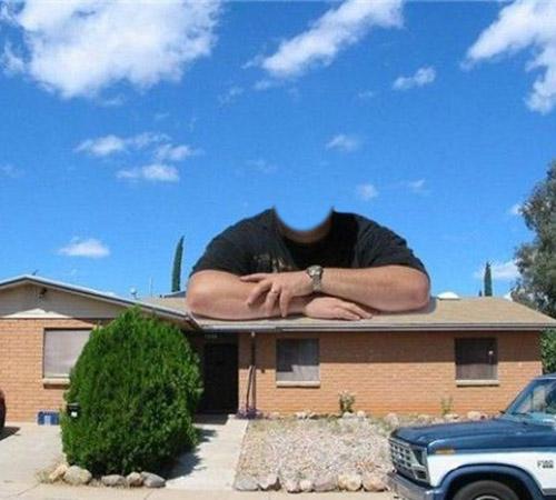 Приколы фотошопа для мужчин: Вот ...Купил себе дом!