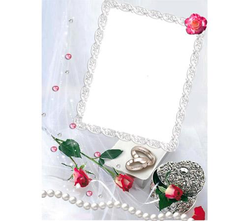 Праздничные рамки для фотошопа: Кольца и розы
