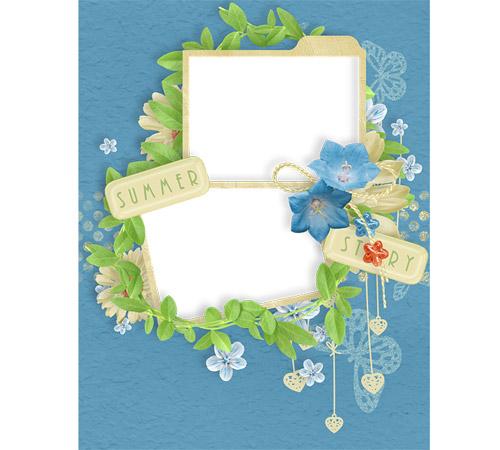 Рамки с цветами для фотошопа: Summer story