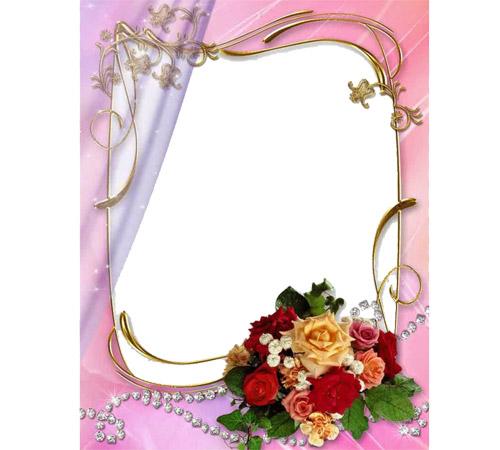Рамки с цветами для фотошопа: Букет из роз