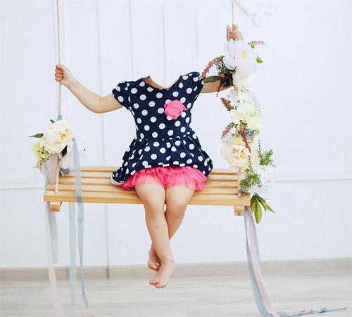 Детские шаблоны для фотошопа: Цветочные качели