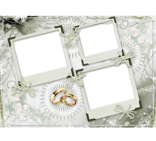 Праздничные рамки для фотошопа: Свадебные фото