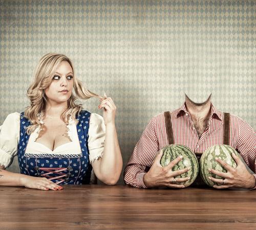 Приколы фотошопа для мужчин: Вот такие вот арбузы!
