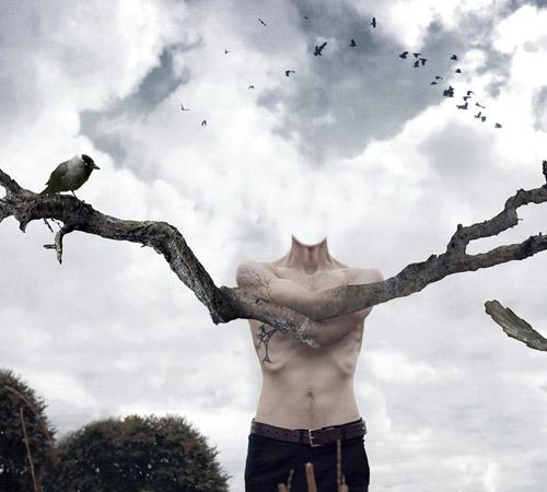 Приколы фотошопа для мужчин: Человек - дерево